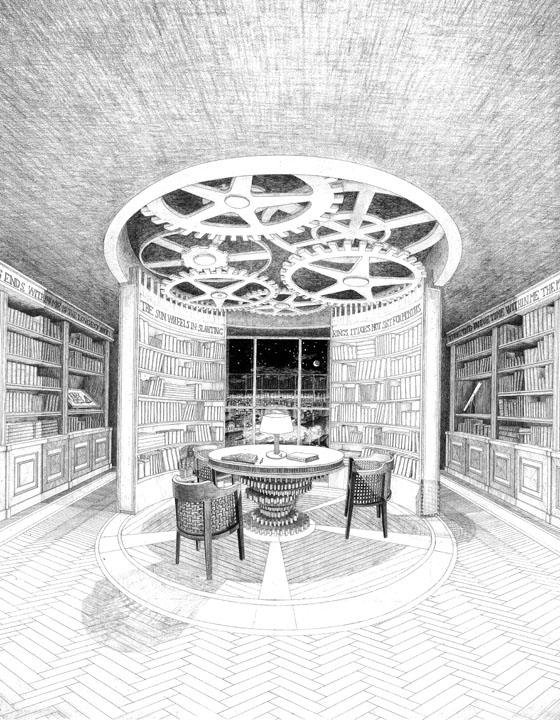 Design for the Library of a Private Client